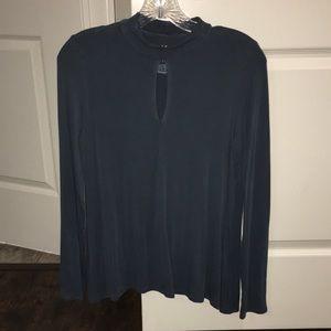 Women's American eagle long sleeve blue top M